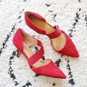 Corso Como Red Suede Pointed Toe Pump 8.5